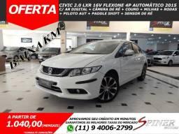Honda Civic 2.0 LXR 16v FlexOne 4p Automático Completo Impecável