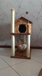 Casinha de gato com rede
