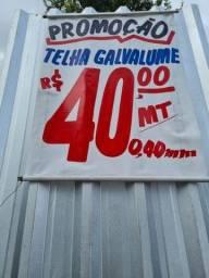 TELHA GALVALUME 0.40mm