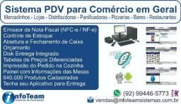 Sistemas PDV Lojas, Mercadinhos, Distribuidoras, Bares, Restaurantes + Emissor Nota Fiscal