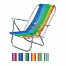 Cadeira De Praia 2 Posições Em Alumínio ? Botafogo