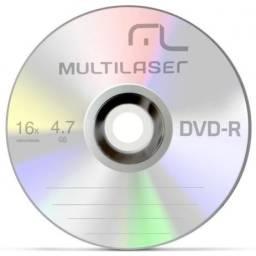 Pack Mídias Virgem 5x Dvd-r 4,7gb Multilaser Maxwell + 11x Cd-r Philips Maxprint Novos!