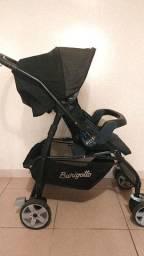 Carrinho de Bebê preto, bebês até 15Kg