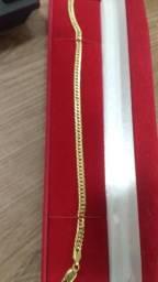 Pulseira ouro italiano vendo ou troco em iPhone ouro 18 italiano nova sem uso 6.6 grs