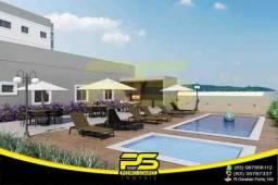 Apartamento novo, 02 quartos, área de lazer com piscina, churrasq, academia, 55,08m² por a