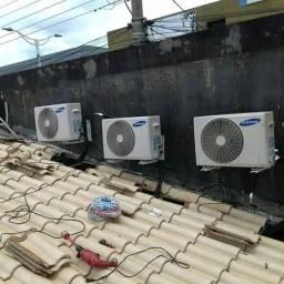 Instalação e manutenção de ar condicionado, e eletricista