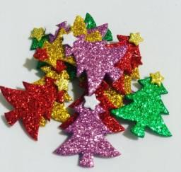 Piercings adesivos Pet de EVA<br>Árvore de natal estrelinha no topo