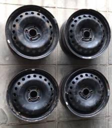 Jogo de rodas de ferro aro 15 GM