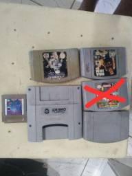 Jogos original N64 e Adaptador de Bame Boy para Super Nintendo
