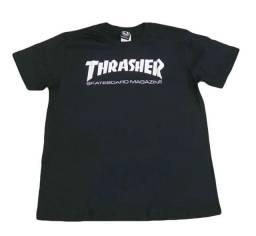 camiseta preta thrasher original