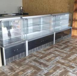 Frente de padaria Gelopar quente seco e refrigerada - douglas