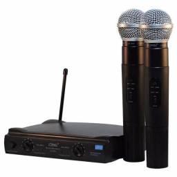 Kit microfone sem fio profissional