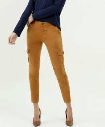 calça cargo sarja