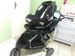 Carrinho e bebê conforto baby trend