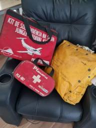 Kit Sobrevivência na Selva (Aviação) + Bote Salva-vidas + 1os Socorros