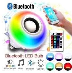 Lâmpada Musical Bluetooth Celular Colorida