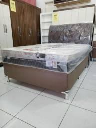 Título do anúncio: CAMA CASAL BOX MOLAS plumatex 1.580,00 ATÉ 6X SEM JUROS! ENTREGA IMEDIATA!