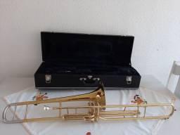 Trombone de pisto Weril com case.