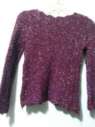 Blusa de tricot veste (m)