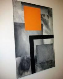 Título do anúncio: Quadro tela pintura acrílica frete grátis
