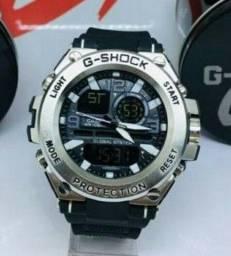 G-Shock Stell Na Cor Prata