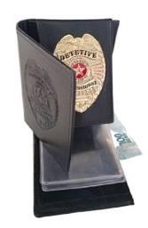 Carteira de couro para Detetive Profissional (águia capa lisa)