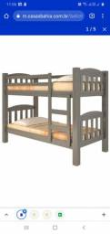 Beliche duas camas cinza Rubi pouco usado