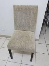 4 cadeiras estofadas