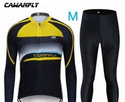 Título do anúncio: Conjuntos Para Ciclismo M G Novos !