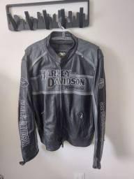 Blusao Harley Davidson tam GGG couro legitimo estado de novo
