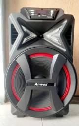 Caixa amplificadora Amvox 500w RMS Bluetooth aca501