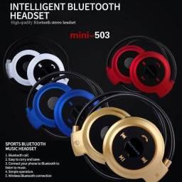 Fone Ouvido Bluetooth Sem Fio Mini Bh 503 Cartão Micro Sd Radio