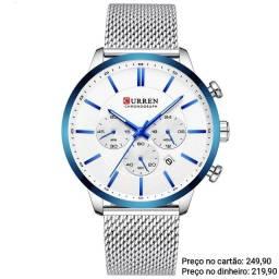 Relógio Masculino Original Curren Luxo Diferenciado