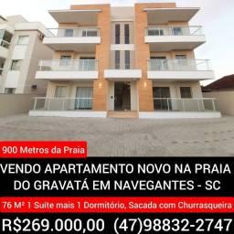 Vendo Apartamento Novo na Praia do Gravatá em Navegantes - SC