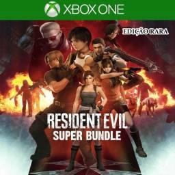 Título do anúncio: Resident Evil Super Coleção - Aluguel - Xbox One S/x