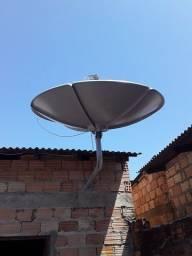 Eu tenho 2 antenas uma grande e outra média