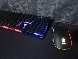 Kit Mouse e Teclado Gamer Dazz Iluminação RGB