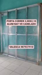 PROMOÇÃO PORTA 2,00X2,10 ALUMÍNIO NATURAL 979,00 A VISTA