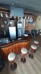 Bar Balcão Rústico Vintage em Madeira de Lei