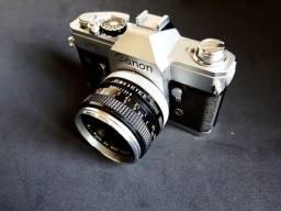 Câmera Analógica Canon Ft Ql 50mm F/1.8 Lens