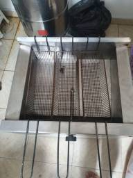 Fritadeira a gás água e óleo