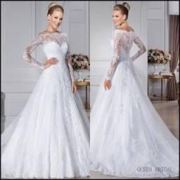 Vestido de Noiva - Fabricado na Alemanha - Parcelado em até 10x
