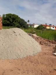 Areia brita tijolos e po de pedra