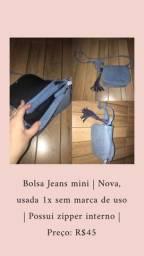 Bolsa jeans mini