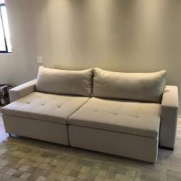 Sofa de linho novo 4 meses de uso