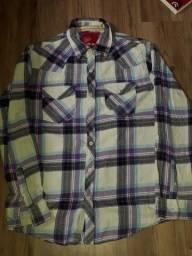 camisa/blusa xadrez unissex