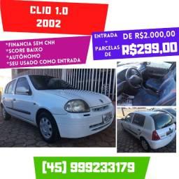 Clio 1.0 2002 2 Mil mais Parcelas