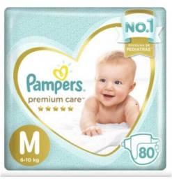 Fraldas Pampers Premium Care - tamanho M 80 unidades