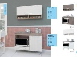 Balcão com cooktop Realce e Armário aéreo (Promoção)