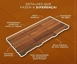 Deck Modular 5 tipos madeira de lei.